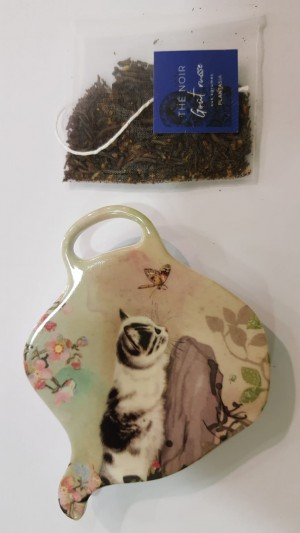 Repose sachet thé Chat & papillon