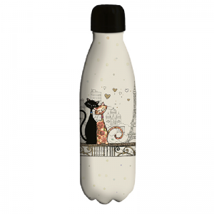 Bouteille isotherme 500ml Chat amoureux