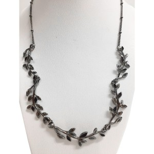 Collier Feuilles anthracite