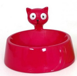 "Gamelle chat ""Cat"" rouge"