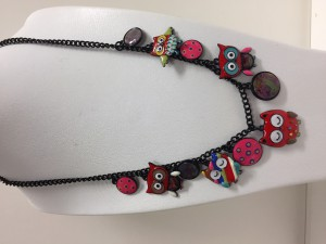 Collier Lolilota Chouettes rouges