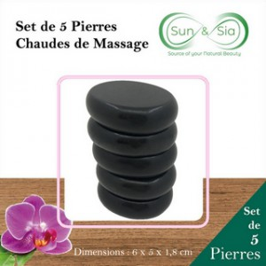 5 pierres de massage
